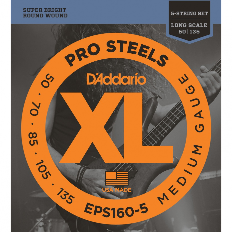 картинка D'Addario EPS160-5 - струны для 5 стр.БАС-гит, ProSteels/Long, 50-135 от магазина Простор