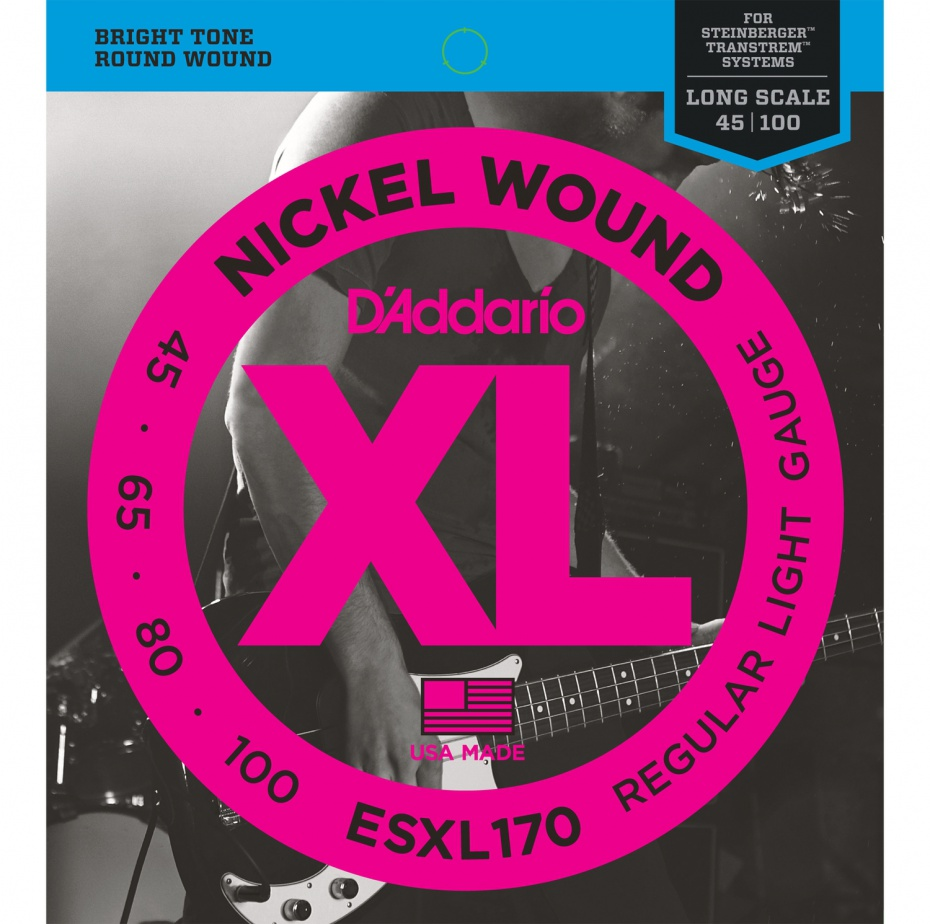 картинка D'Addario ESXL170 - струны БАСС, Double Ball/Light, 45-100 от магазина Простор