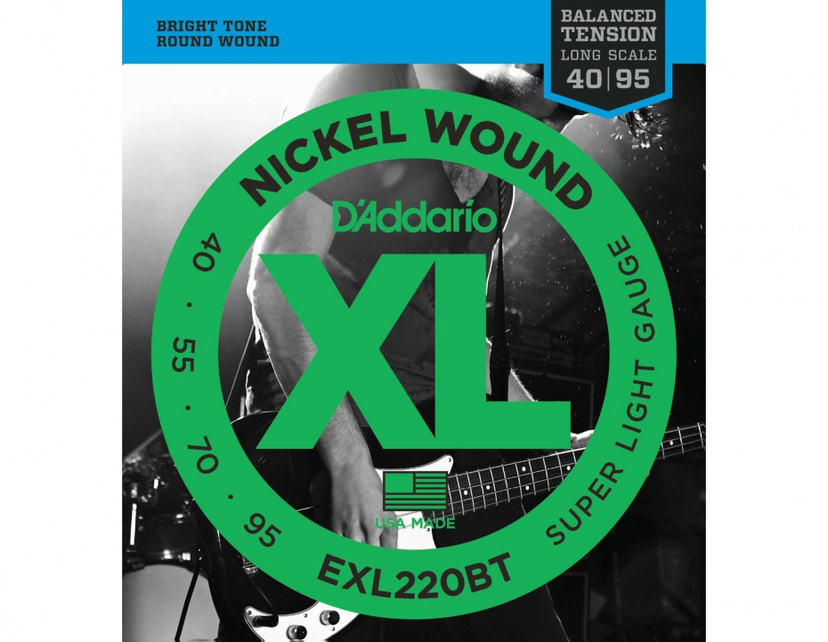картинка D'Addario EXL220BT - Струны БАС ,nickel,super soft 40-95 от магазина Простор